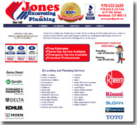 Jones Excavating and Plumbing Website