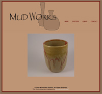 The home page for MudWorks Ceramics