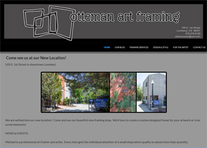 a website for a small business - Otteman Art Framing